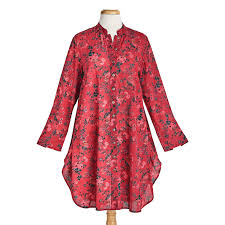April Cornell Size Chart April Cornell Womens Red Roses Tunic Top Floral Print
