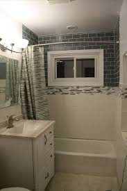 Before and After Bathroom Remodel With Glass Tile Subway Tile Outlet