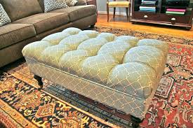 lovely rug upholstered ottoman excellent persian rug upholstered ottoman