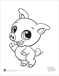 Leapfrog Printable Baby Animal Coloring Pages Pig Kids