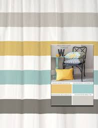 shower curtain stripes in pantone colors of 2016 blue grey