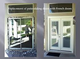 exterior french door stunning design removing patio sliding door and installing french doors with mini blinds the mini blinds are french patio door ideas