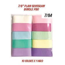 7/<b>8</b> inch Plain <b>Grosgrain Ribbon Bundle Packs</b> | Shopee Philippines