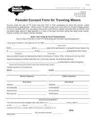Parental Consent Form Notarized Letter Template For Child Travel