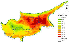 Cyprus Weather Chart Satellite And Ground Measurements For Studying The Urban