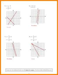 solving systems of linear equations by graphing worksheets
