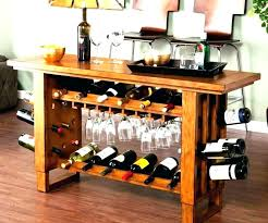 wood wine rack plans small wooden under cabinet glass racks making a homemade from console bar wood wine rack plans