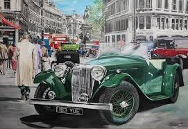 ss 1 in holborn high street central london ca 1930 original oil on