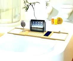teak bathtub caddy bath australia taymor water resistant tray