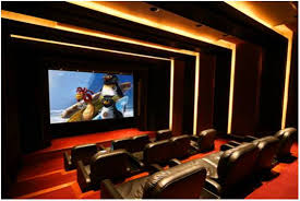 home theater ceiling lighting. Home Theater Design In Modern Style With Three Lighting Fixtures Simple Ceiling D