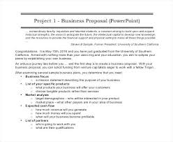 Business Proposal Document Free Sample Business Proposal Project