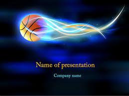 Basketball Powerpoint Template Basketball Ball PowerPoint Template Background For Presentation Free 13