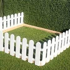 mini white picket fence