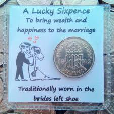 wedding lucky silver sixpence bride s shoe gift keepsake real silver
