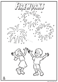 Small Picture Fireworks coloring page 05