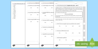Word Test 3 11 Verbal Reasoning Practice Paper Three Letter Words 3