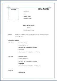 Sample Cv Job Stunning Simple Resume Sample Doc Resume Writing Guide