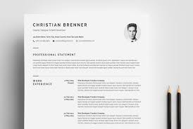 Clean Resume With Cover Letter Resume Template 66166