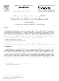 PDF) Corpus Methods for Descriptive Translation Studies