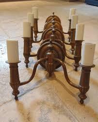 set of 4 matching laura ashley bronze antique brass sconce wall lights