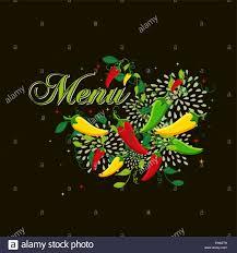 Food Menu Design Ideas Mexican Food Menu Design Illustration With Colorful Chili