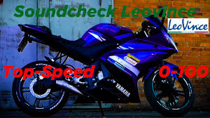 Yamaha YZF R 125 0 100 km h Top Speed LeoVince SBK.
