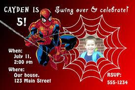 Spiderman Birthday Invitation Templates Free Editable Spiderman Birthday Invitations Templates Free