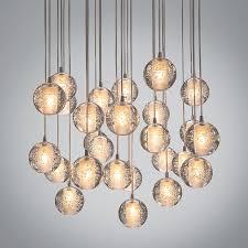 36 lights modern clear cast glass ball meteor shower chandelier regarding incredible property crystal ball lighting plan