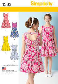Ladies Dress Design Patterns Sew A Girls Or Girls Plus Dress Featuring A Heart Cutout