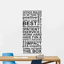 office rules wall decal teamwork quote sign motivational gift inspirational lettering word cloud vinyl sticker print teamwork office wallpaper t82 office