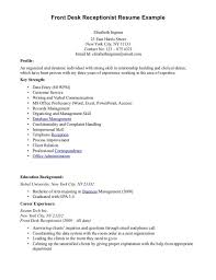 Objective For Resume Receptionist Extraordinary Medical Receptionist Resume Objective Samples Perfect Format For