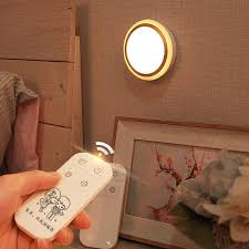 portable dim lamp bedside baby room recble light timer remote
