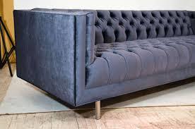 modern sofas for sale. Modern Tufted Velvet Sofa In Good Condition For Sale New York, NY Sofas