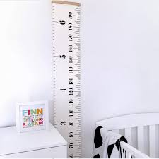 Canvas Height Chart Kids Roll Up Canvas Height Chart Removable Wall Hanging Measurement Chart Wall Decor With Wood Frame For Kids Nursery Room Buy Kids Roll Up Canvas