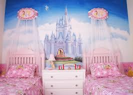 girls pink white wood princess wall