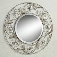 pearlette wall mirror champagne silver touch to zoom