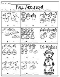 18 Best Images of First Grade Fall Addition Worksheets - Fall ...
