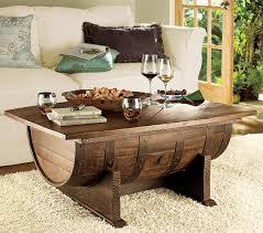 where to handmade vintage oak whiskey barrel coffee table