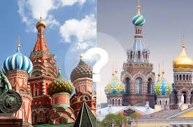 mosca o san pietroburgo quanto conoscete queste citta russia  mosca o san pietroburgo quanto conoscete queste citta