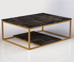Stunning Black Marble Coffee Table With Diani Black Marble Coffee  throughout Black and Grey Marble Coffee
