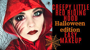 easy makeup tutorial creepy little red riding hood source