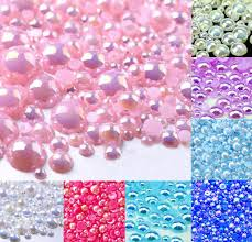 <b>500Pcs Mixed 2 10mm Pink</b> AB Half Round Pearl Beads Craft ...