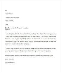 Job Offer Rejection Letter Job Offer Decline Letter Best Business