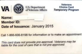 veterans can use choice cards like this one for health care at the private william bee