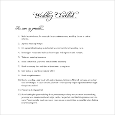 Wedding Checklist Template - 20+ Free Excel Documents Download ...