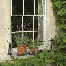 wrought iron window box