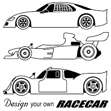 Race Car Coloring Pages For Kids Printable Book Template Free