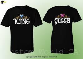 Boyfriend Girlfriend Shirt Designs Details About King Queen Design Fashion Couple Shirts Bf