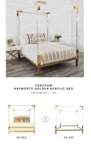 acrylic bedroom furniture. Horchow Hayworth Golden Acrylic Bed Bedroom Furniture E