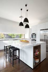 contemporary kitchens white modern awesome hanging pendant l